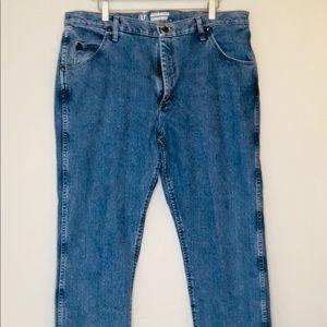 Mens WRANGLER Blue Jeans 47 MWZ Regular Fit 38W32L